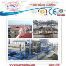 Linha vitrificada PVC da extrusão da telha de telhado SJSZ-80 do plástico do maquinaria