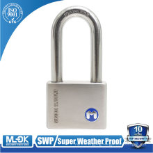 MOK@12/50WF Heavy duty lock,extreme weather resistant outdoor long shackle steel padlock 50mm with master key