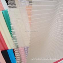 Gloss transparent 30D nylon 280D spandex mesh striped fabric
