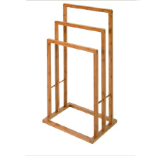 Eco-friendly bamboo bathroom shower shelf tower rack