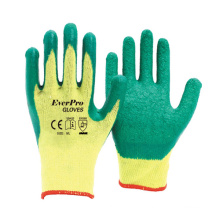 Work Protective Good Grip Polycotton With Latex Crinkle  Work Gloves With CE EN388
