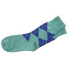 Hombres Mujeres Medias calcetines de vestir llano con algodón (fps-01)