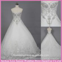 WD6020 Quality fabric heavy handmade export quality rhinestone wedding factory crystal alibaba wedding dress