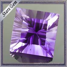 Серебро Аметист квадратной формы Высечка тысячелетия Драгоценный камень