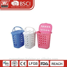 Plastic laundry basket with lid and handle(47L)