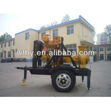 Two wheels Diesel engine Water Pump set