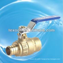 Low lead Pex copper brass ball valves full port C46500 PEX*SWEAT