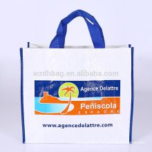 Eco promotional laminated polypropylene pp woven bag shopping tote bag grocery for supermarket