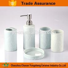Fresco design cerâmica banheiro acessório definido para banheiro
