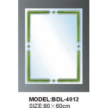 Espejo de baño de vidrio de 5 mm de espesor de plata (BDL-4012)