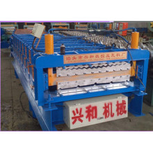 Doppelte Schicht Farbe, die Stahl Fliesen Formmaschine für Roll gewellte und Schwalbenschwanz-Paneele