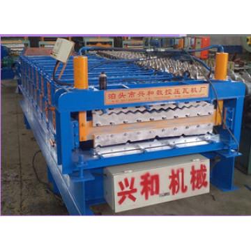 Techo de metal corrugado doble capa máquina