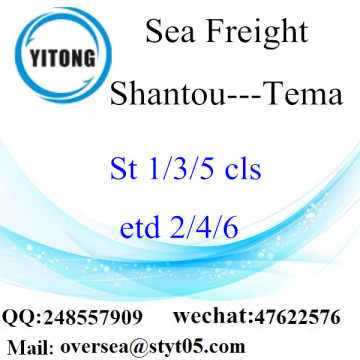 Shantou Port LCL Consolidation To Tema