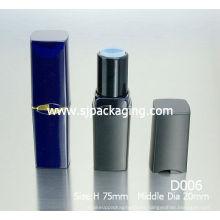 Tubo de lápiz de labios vacío en tubos de embalaje tubos de lápiz labial negro de embalaje de plástico de embalaje de cosméticos al por mayor