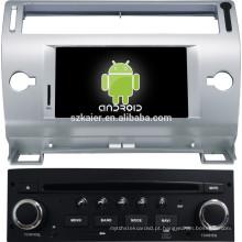 FÁBRICA! Player multimídia carro Android para Citroen OLD C-QUATRE / C4 (cinza e preto)