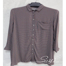 Women's Viscose Single-Breasted Button-Down Blouse