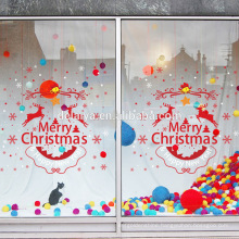Merry Christmas & Happy New Year PVC Window Stickers Vinly Wall Sticker