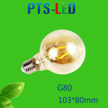 G80 4W 6W 8W 400-900lm Dimmable LED Filament Bulb