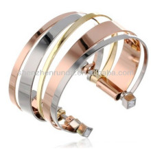 2014 Promotional Cheap Bracelet three-tone cuff bracelet set