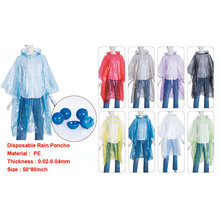 disposable cheap promotion keychain rain poncho