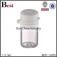 1/2/3ml empty cosmetic bottles for sale, empty tube glass bottle, cosmetic bottle supplier