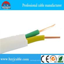 2 * 4mm2 7wires Cable plano sólido de la envoltura del cobre del cobre del cobre