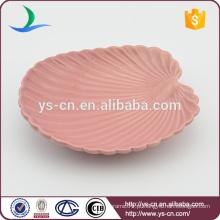 Atacado prato de cerâmica de concha