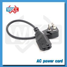US Flat Plug Extension Cord