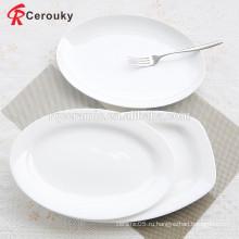 Круглые формы одобренные FDA обеденные тарелки