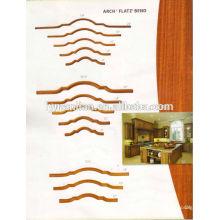 techo decorativo de madera de forma curvada / moldura de corona para decorativos interiores