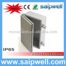 saip/saipwell IP65 weatherproof plastic enclosure 250*170*100mm (Plastic Draw latches)