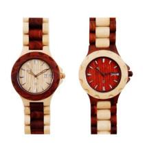 Hlw042 OEM montre en bois de montre en bois de montre en bambou des hommes et des femmes de haute qualité