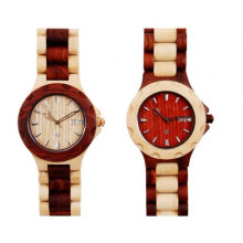 Hlw042 OEM Men′s and Women′s Wooden Watch Bamboo Watch High Quality Wrist Watch