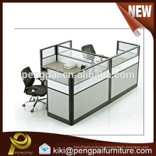 China supplier manufacturer two seater staff workstation screen partition