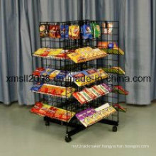4 Way Candy Rack Metal Display