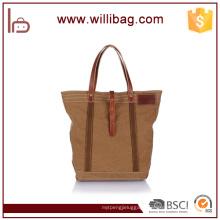 Large Capacity Heavy Duty Handbag Genuine Leather Custom Tote Bag