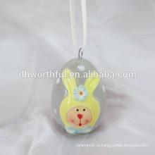 2016 новый продукт handpainting кролика пасхальные висит украшение, пасхальные висит ремесел