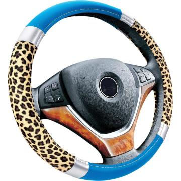 fur +pu leather car steering wheel cover