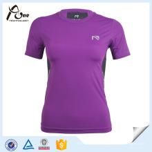 Purple T Shirt Compression Clothing Compression Wear