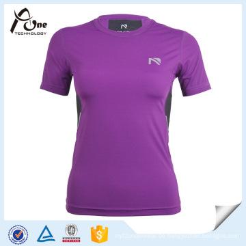 Lila T Shirt Kompressionskleidung Kompressionsbekleidung