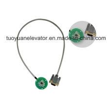 Codificador incremental de indução magnética para motor de porta de elevador