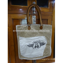 Canvas Route 66 Handbag
