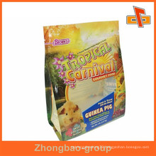 Custom design flat bottom laminated pet food bag for pet aliment packaging with printing