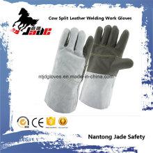 Cuero de cuero de cuero industrial Guante de trabajo de soldadura de seguridad