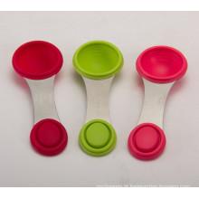 FDA SGS grau non-toxic silicone colher de medição