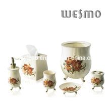 Ensemble de bain en porcelaine avec étiquette (WBC0452A)