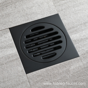 HIDEEP  Round Full Copper Black Floor Drain