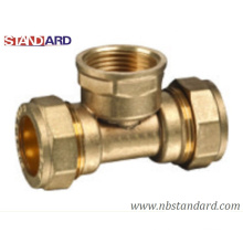 Brass Compression Fitting of Female Tee