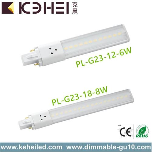 8W Cool White LED PL Light 160 ° Angle de faisceau