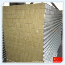 Panneau en sandwich de laine de roche isolé par chaleur pour le mur